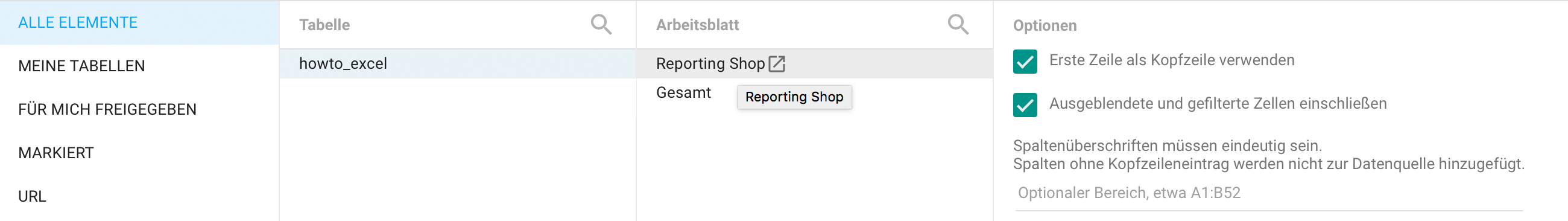 How to: Excel-Datei in Google Data Studio - Einfaches Reporting