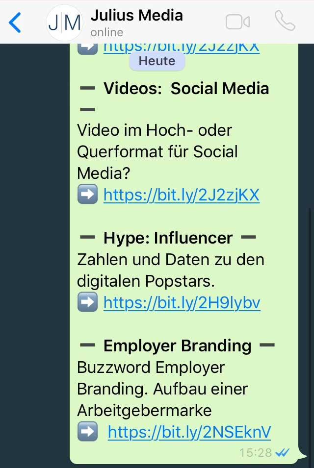Messenger Dienste Videos Formatierung